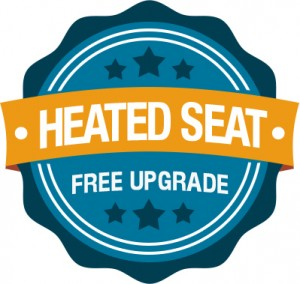 Heated Seat Free Upgrade badge