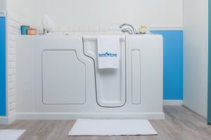 Perspective view of an installed Walk-In Tub for Seniors