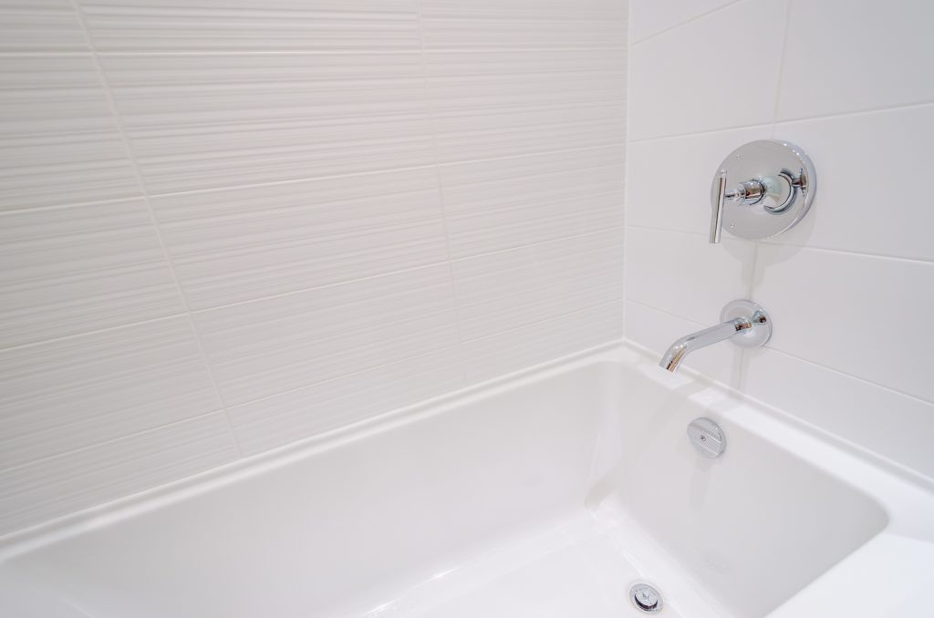 This standard bath is going to be replaced by the benefits of a safe-step tub