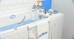 Water filling up a Safe Step Walk-In Tub