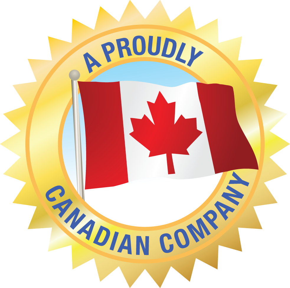 A Proudly Canadian Company Badge